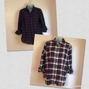 Two Limited button down  plaid shirts ~size med~